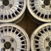 golf / passat mk1 set of mag wheels.