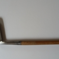 Antique bambo golf putter.