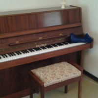 Piano for sale - Otto Bach with chair
