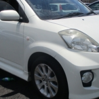 2008 daihatsu sirion 1.5 sport   5-doors,    factory a/c,   c/d player,     central locking,     whi