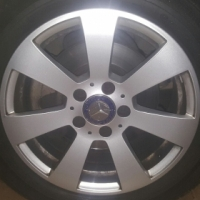 "Original Mercedes Benz C Class Mags and Tires 16"" x 4"