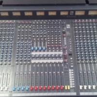 Pristine Soundcraft K2 32 channel desk in case including complete, high quality siderack