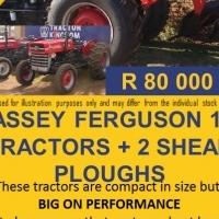 Massey Ferguson 135 Tractors + 2 Shear Ploughs.
