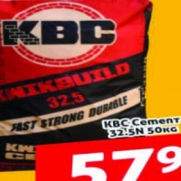 Cash & Carry ONLY! KBC Cement 32.5N 50kg @ R57.90