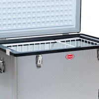 Camping fridge 12&220v Stainless with transit bag