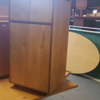 Metal and wood filing cabinets