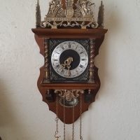 Zaandam Zaanse antique wall clock, used for sale  Southern Suburbs
