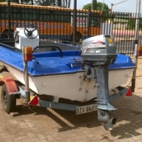 MOTOR BOAT AND TRAILER