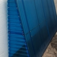 Plastic Awning. Blue Plastic Awning for sale.