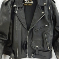 Black Rose Leather Jacket