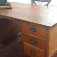 Solid Teak Desks - they don't make them like this anymore!