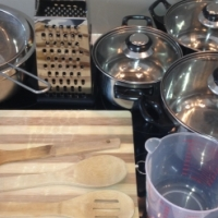 Pots, cooking utensils, plates, cups, cutlery - Bargain!