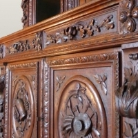 highly carved 19th century Oak bookcase