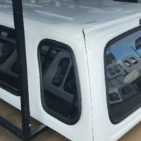 BEEKMAN NISSAN KING CAB WHITE LOW REFURBISHED CANOPY FOR SALE!!!