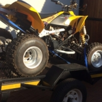Canam 450 efi with trailer