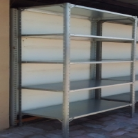 NEW GALVANISED BOLT AND NUT SHELVING