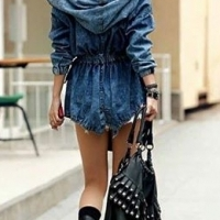 Stunning denim trench coats