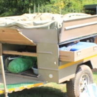 One Off road trailer and  bushtec tent