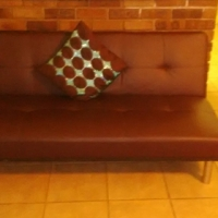 for sale. leather sleeper couch