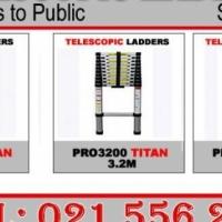 Aluminum telescopic ladders 2.6m, 3.2m, 3.8m