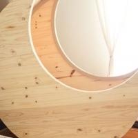 Baby/Toddler Half Moon Wooden Cot