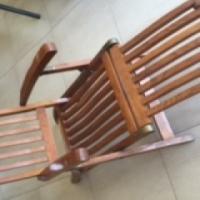 Wooden Deck Chair x2