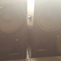 Pair of disco speakers with matching power amp free, True 250 Wats RMS