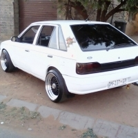 ford laser for sale with 15 inch bbs 0725529207
