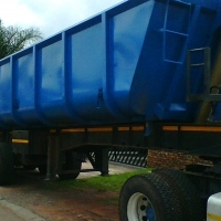 A very clean and well maintained 2003 S A truck body 20 cube tri axel  back end tipper.