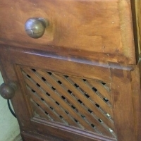 Wood cabinet and single draw unit