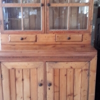 Oregon Pine display cabinet