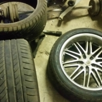 "4 20"" mag wheels with brand new tyres and 4 extra brand new tyres to go with"