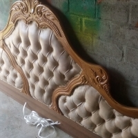 Headboard and 4 Pedestals for sale