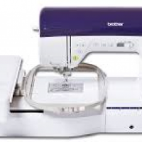 Combination Embroidery and Sewing Machine