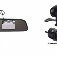 Rear view mirror & camera combo installed