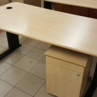 Desk + pedestal (used)