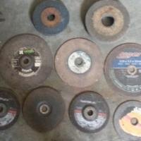 13 angle grinder cutting disks and bench grinder wheels