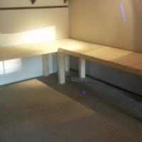 Study desk Farmhouse series 2980 L Shape Raw
