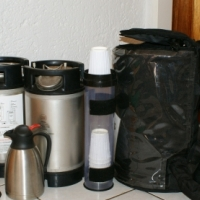 Hot Beverage Back Pack Dispensor