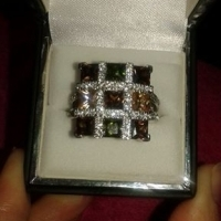 Swarovski crystal and AAA Quality cubic zirconia ring for sale  Johannesburg