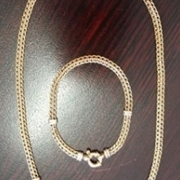 9ct Yellow Gold Ladies Neck Chain with matching arm bracelet. for sale  Other Gauteng