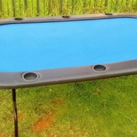 Poker Table Size 2 meter X 0.7 meter 2 X Blackjack mats included