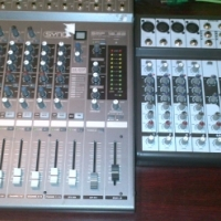 SYNQ 12 CHANNEL MIXER + HYBRID DESK BAND MIXER