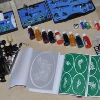 Tatto kit complete plus mini compressor