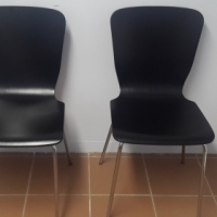 2 black urban bentwood chairs