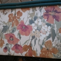 Beautiful Poppie floral design curtains with matching pelmits