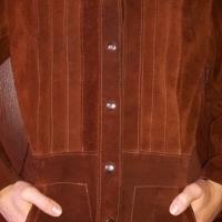 Genuine Brown Buffalo Leather Jacket.