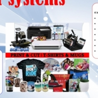 Print hundreds of novelty gifts + vinyl cutter and more, Amazing 4 in 1 printing kit standard