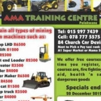 Book any machine and get a free health and safety course AT AMA TRAININIG CENTRE