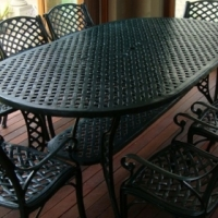 8 seated cast aluminium outdoor dinning set